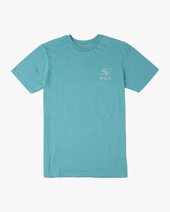 1 Boy's Pommier Eternal Struggle T-Shirt Blue B401TRET RVCA