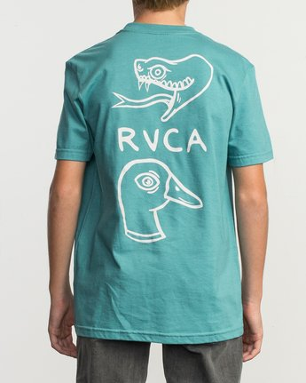 4 Boy's Pommier Eternal Struggle T-Shirt Blue B401TRET RVCA