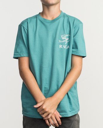 2 Boy's Pommier Eternal Struggle T-Shirt Blue B401TRET RVCA