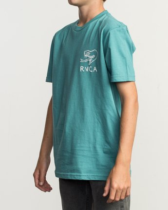 3 Boy's Pommier Eternal Struggle T-Shirt Blue B401TRET RVCA