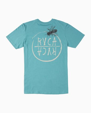 0 Boy's Horton Hivemind T-Shirt Blue B401TRHI RVCA