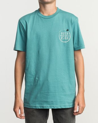 2 Boy's Horton Hivemind T-Shirt Blue B401TRHI RVCA