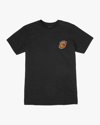 1 Boy's Dmote Jetty Lips T-Shirt Black B401TRJE RVCA