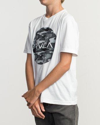 2 Boy's Motors Fill T-Shirt White B401TRMO RVCA