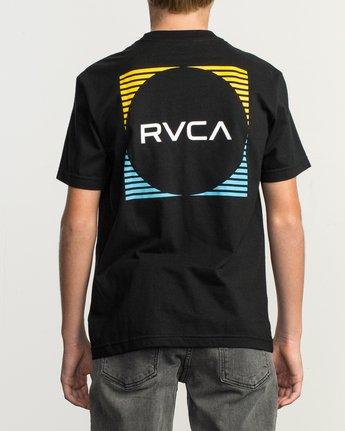 4 Boy's Motorstripe T-Shirt Black B401TRMS RVCA
