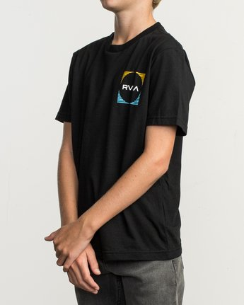 3 Boy's Motorstripe T-Shirt Black B401TRMS RVCA