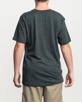 3 Boy's Motors Stripe T-Shirt Black B409SRMO RVCA