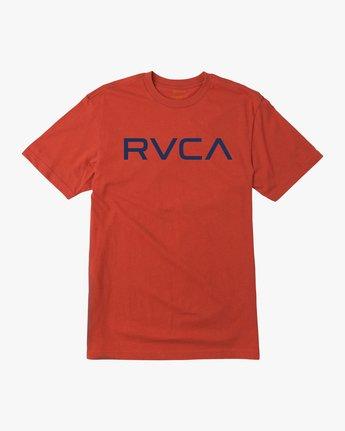 0 Boy's Big RVCA T-Shirt Red B410QRBI RVCA
