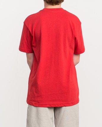 3 Boy's Big RVCA T-Shirt Red B410QRBI RVCA