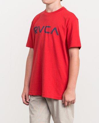 2 Boy's Big RVCA T-Shirt Red B410QRBI RVCA
