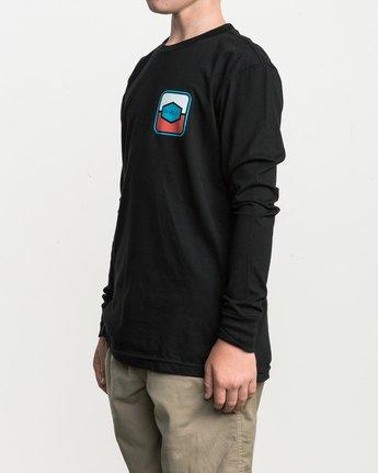 2 Boy's Milton Long Sleeve T-Shirt Black B451SRMI RVCA