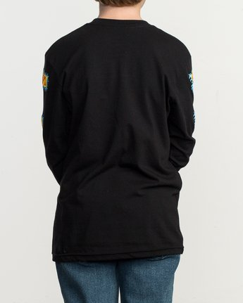 3 Boy's Crawling Long Sleeve T-Shirt Black B451TRCR RVCA