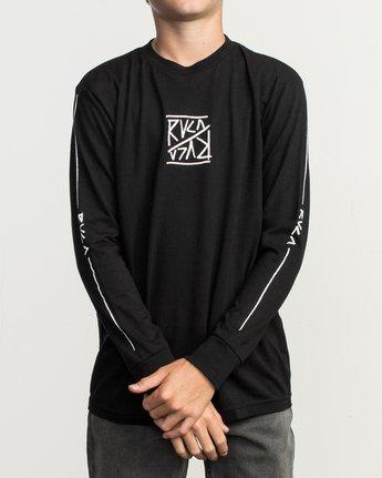 2 Boy's Flipped Long Sleeve T-Shirt Black B451TRFL RVCA