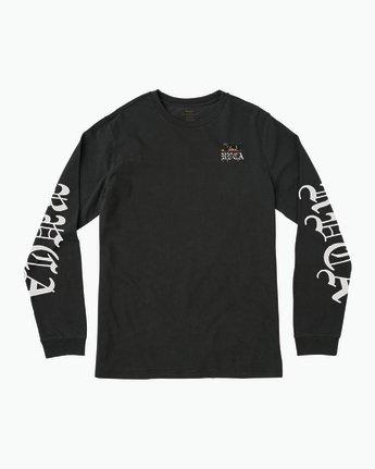 1 Boy's Bert Krak Double Skull Long Sleeve T-Shirt  B453QRDO RVCA