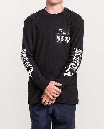 2 Boy's Bert Krak Double Skull Long Sleeve T-Shirt  B453QRDO RVCA