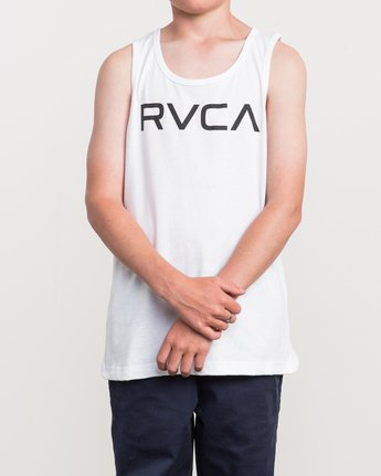 1 Boy's Big RVCA Tank Top White B482QRBI RVCA