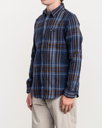 2 Boy's Ludlow Plaid Flannel  B502QRLU RVCA