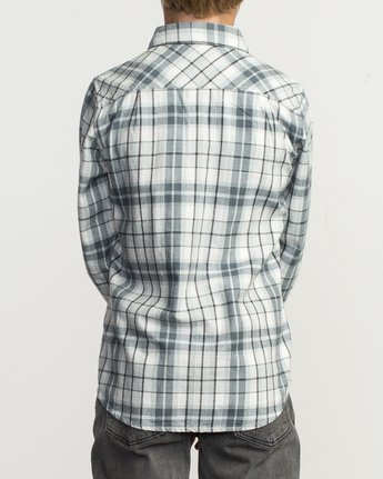 3 Boy's Watt Flannel Shirt Multicolor B553TRWF RVCA