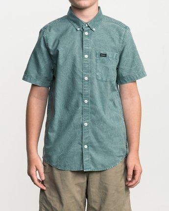 1 Boy's That'll Do Washed Button-Up Shirt Green B592SRTR RVCA
