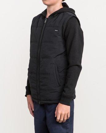 2 Boy's Logan Puffer Jacket Black B606QRLG RVCA