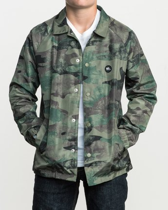 1 Boy's ATW II Coaches Jacket Green B701QRRA RVCA