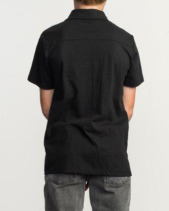 3 Boy's Sure Thing ANP Polo Shirt Black B915TRSU RVCA