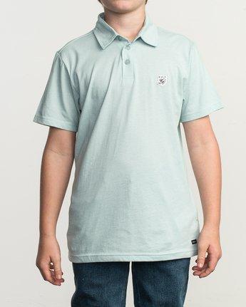 1 Boy's Sure Thing ANP Polo Shirt Blue B915TRSU RVCA