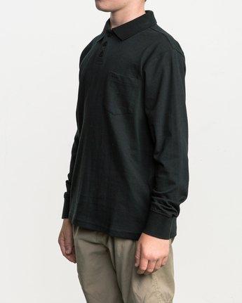 2 Boy's Hi Grade Polo Black B951SRHP RVCA