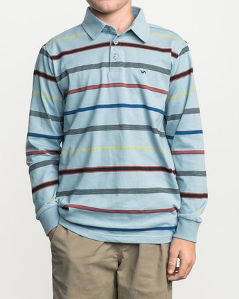 1 Boy's Sure Thing Striped Polo Blue B952SRSP RVCA