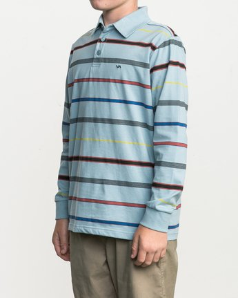 2 Boy's Sure Thing Striped Polo Blue B952SRSP RVCA