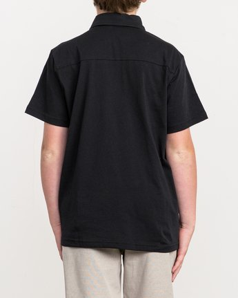 3 Boy's Sure Thing II Polo Black BJ903SUR RVCA