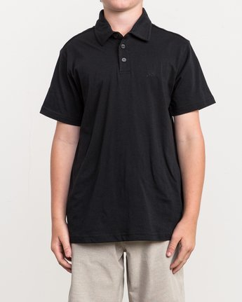 1 Boy's Sure Thing II Polo Black BJ903SUR RVCA