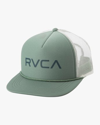 1 Boy's Foamy Trucker Hat Green BJAHWRFT RVCA