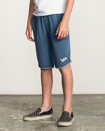 3 Boy's VA Sport Short II Blue BL201SPO RVCA