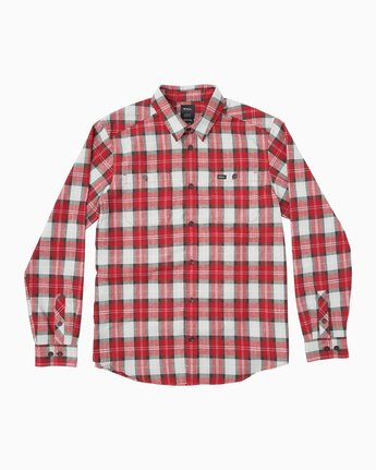 BONE FLANNEL LS  BM503BON