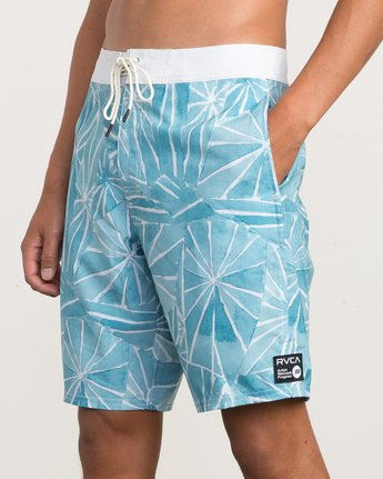"7 Blade Printed 20"" Boardshort Blue M105QRBL RVCA"