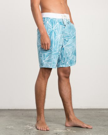 "6 Blade Printed 20"" Boardshort Blue M105QRBL RVCA"