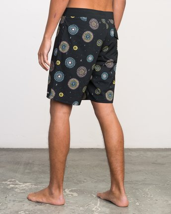 "3 Luke Pelletier 19"" Boardshort Black M110PRPE RVCA"