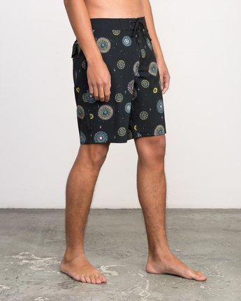 "6 Luke Pelletier 19"" Boardshort Black M110PRPE RVCA"