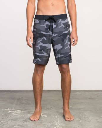 "1 Islands VA 19"" Boardshort Black M124NRIV RVCA"