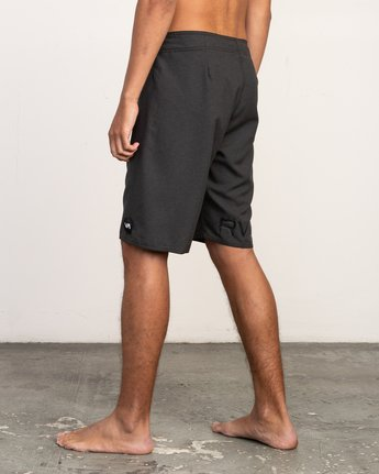 "3 Upper 20"" Boardshort Black M166TRUP RVCA"