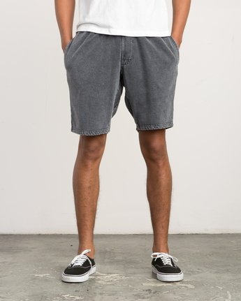 1 Matador Pigment Fleece Shorts Black M207QRMA RVCA