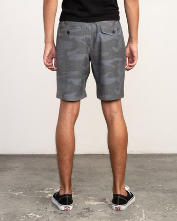 4 All Time Coastal Print Hybrid Short Black M207TRCP RVCA