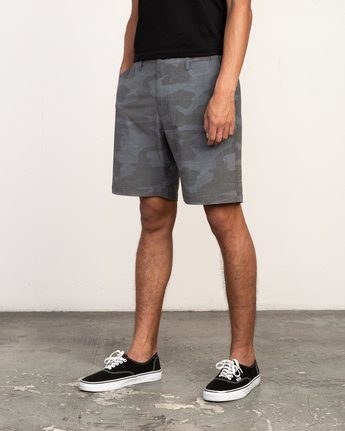 2 All Time Coastal Print Hybrid Short Black M207TRCP RVCA