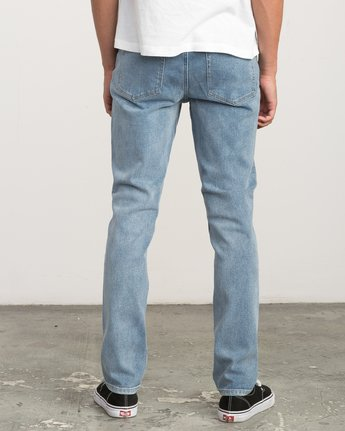 3 Hexed Slim Fit Denim Jeans Blue M306QRHD RVCA