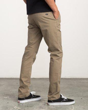 4 Daggers Slim-Straight Chino Pant Beige M309QRDC RVCA