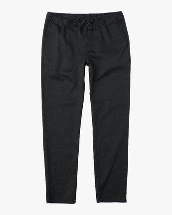 6 A.T. Dayshift Elastic Pant II Black M310QRDS RVCA