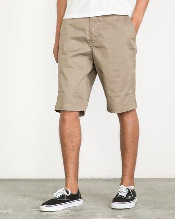 "2 Americana 22"" Shorts Green M3210AMS RVCA"