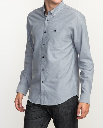 2 That'll Do Oxford Long Sleeve Shirt Multicolor M3515TDL RVCA