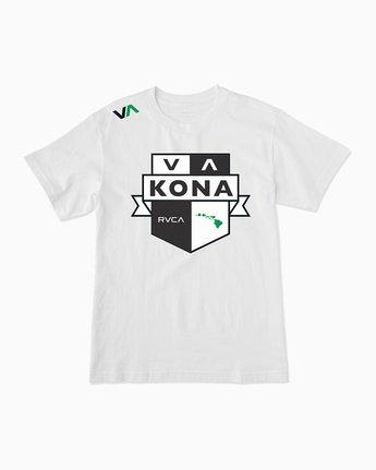0 Kona Bellator 213 T-Shirt White M401SRKN RVCA